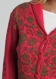 Damen Strickblazer mit Kragen, rot