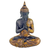 Betender Buddha mit Lotus - 23 cm