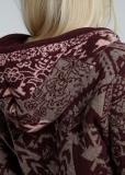 Damen Strickjacke mit Knebelknöpfen, rot-bunt