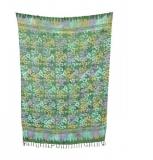 Sarong: grün gemustert