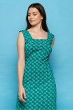 Jersey-Kleid midi - green