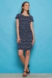 Jersey-Kleid - navy blue