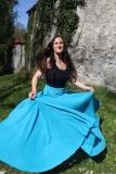 Baumwoll-Rock: weit - türkisblau