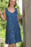 Sommerkleid - blau mit Kringel