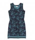 Trägerkleid Bille - nachtblau/türkis