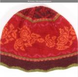 Wollmütze Sofia - mohnrot