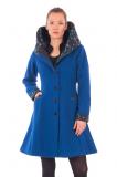 Wollmantel  - königsblau