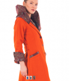 Wollmantel  - orange