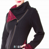 Wollmantel Merino - black