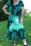 Sommerkleid Heide - türkis mit Bumen
