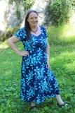 Sommerkleid Heide - blau mit Bumen