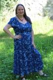 Sommerkleid Heide - blau mit Muster
