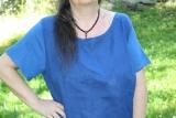 Sommerkleid Leinen - blau
