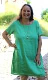 Sommerkleid Leinen - grün