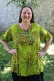 Leinenoberteil Ulin - lindgrün