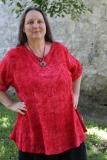 Leinenoberteil Ulin - rot