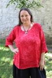 Leinenoberteil Mabi - rot