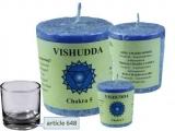 Chakra Duftkerze Vishuddha -(Kehlkopfchakra)