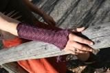 Armstulpe Missy - aubergine