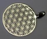 Blume des Lebens spezial, Silber - 5 cm