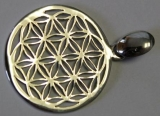 Blume des Lebens in Silber - 2 cm