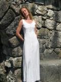 Sommerkleid geschnürt: weiß