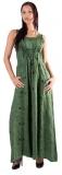 Kleid geschnürt: grün mit Ranke