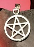 Pentagramm mit Rand - 1,7 cm