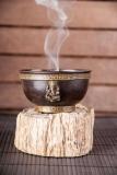 Räuchergefäß Kupfer mit Ganesha - 9 cm