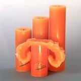 Lotuskerze: lachsorange - 28 cm