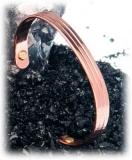Kupfer-Armreif mit Magnet
